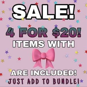 Other - 4 FOR $20 SALE!